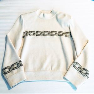 Vtg. St. John Collection Mock Neck Knit Top